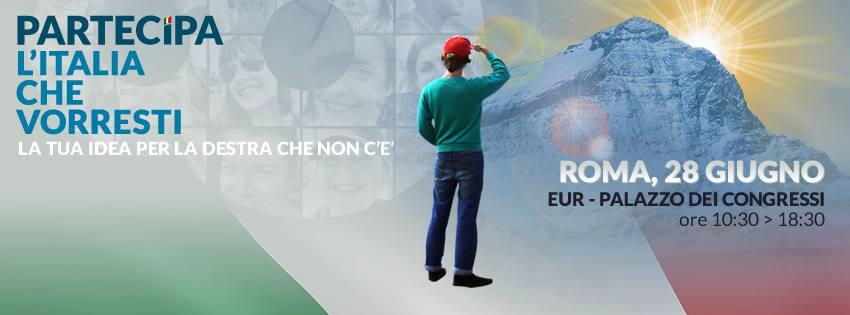 fini, partecipa italia che vorresti 28 giugno palazzo congressi roma
