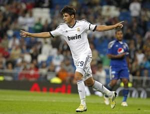 Alvaro Morata con la maglia del Real