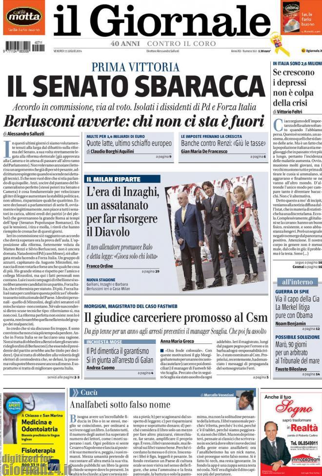 Rassegna stampa accordo sul senato termometro politico for Il senato italiano