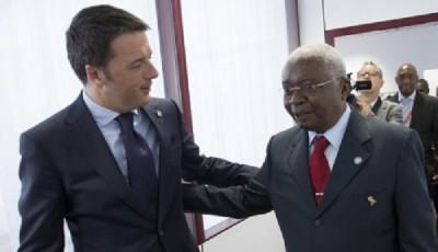 renzi tre giorni in africa e a annuncia investimenti eni in mozambico