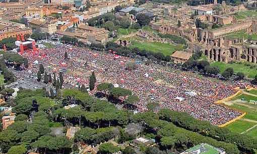 Circo Massimo dopo concerto Rolling Stones Immagine tratta da beppegrillo.it