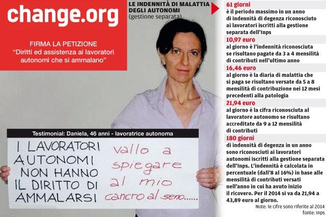 daniela fregosi la petizione su change.org a difesa dei diritti dei lavoratori autonomi