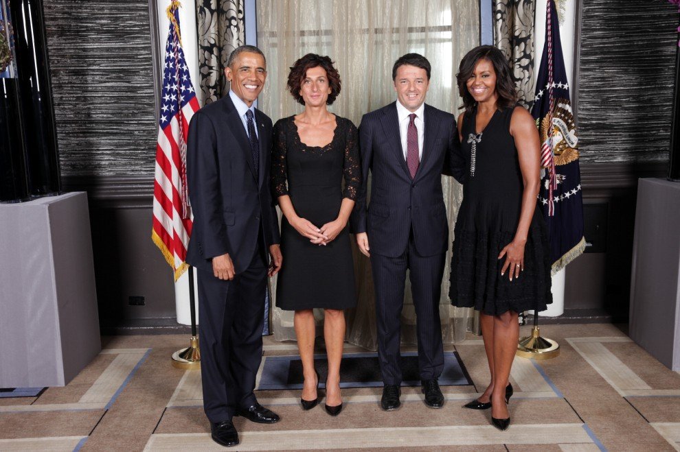 matteo renzi agnese renzi barack obama michelle obama