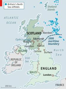 scotland oil map