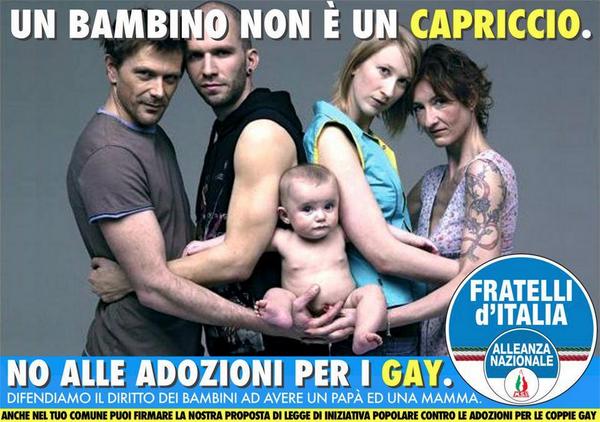 un bambino non e un capriccio campagna di fratelli d italia contro le adozioni
