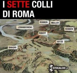 L'immagine satirica di www.stocalcio.it sulla sconfitta della Roma
