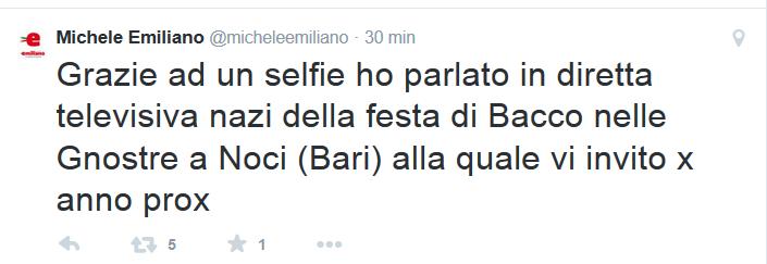 grazie selfie razzi diretta tv Selfie Emiliano Razzi