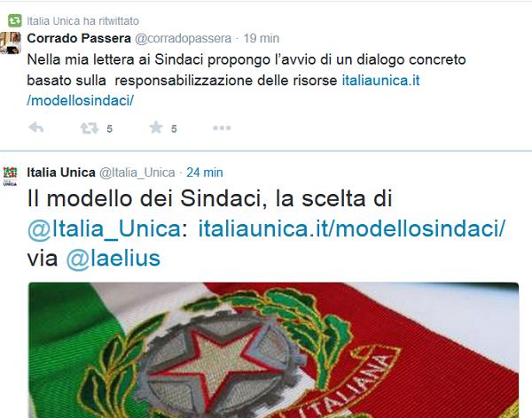 italia unica e corrdao passera verso le elezioni comunali 2015