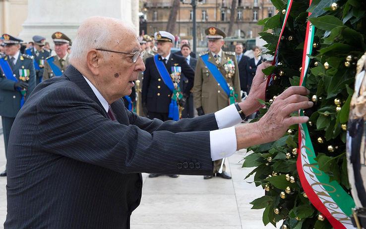 Giorgio Napolitano al Milite Ignoto