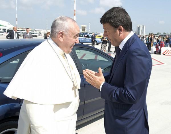 papa francesco al parlamento europeo matteo renzi