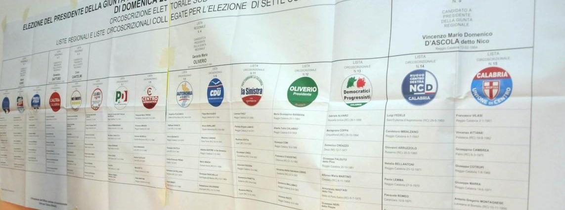 Elezioni Amministrative Regionali Reggio Calabria 2014