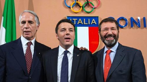 olimpiadi a roma renzi marino malago