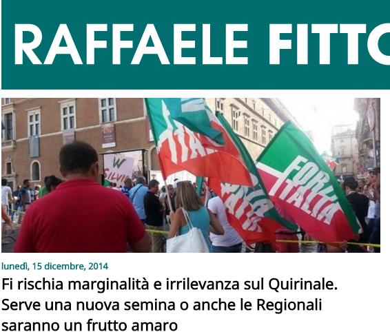 raffaele fitto forza italia rischia irrilevanza
