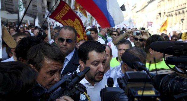 salvini in piazza a roma il 28 febbraio