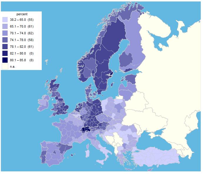 tasso attività europa