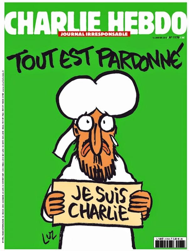copertina charlie hebdo dopo strage parigi francia