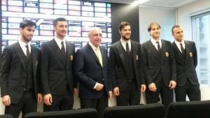 Suso, Bocchetti, Galliani, Destro, Paletta e Antonelli
