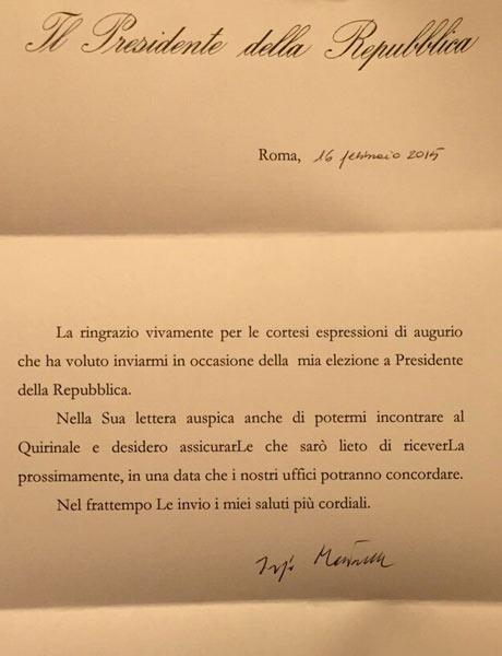 lettera mattarella