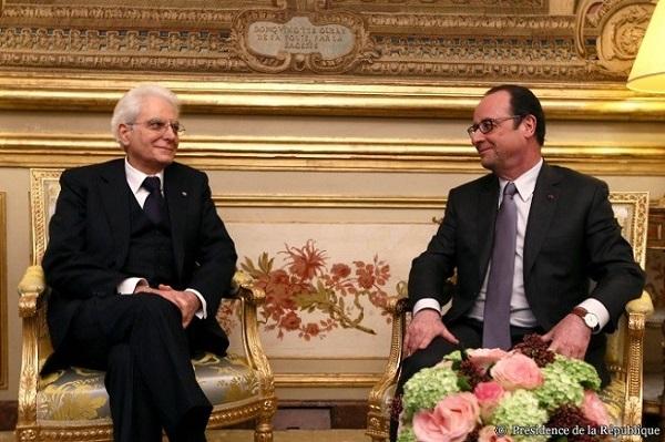 Mattarella Francia Hollande