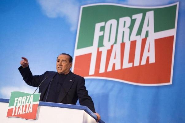 berlusconi bandiera forza italia