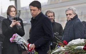 Renzi in Russia �Non esiste alternativa a soluzione politica e diplomatica�
