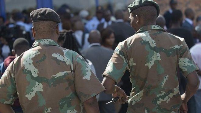 Sudafrica esercito