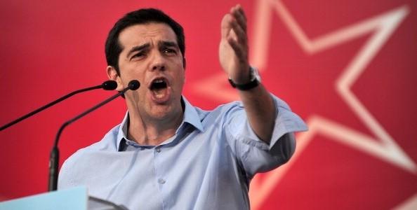 fassina, volto di Tsipras a un comizio