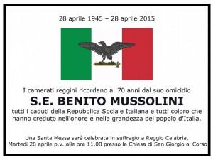 Reggio Calabria, sospesa messa Mussolini ma non si placano le polemiche