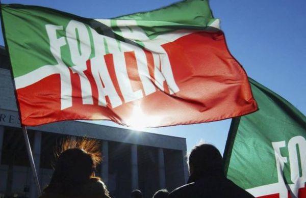 bandiere tricolori di forza italia
