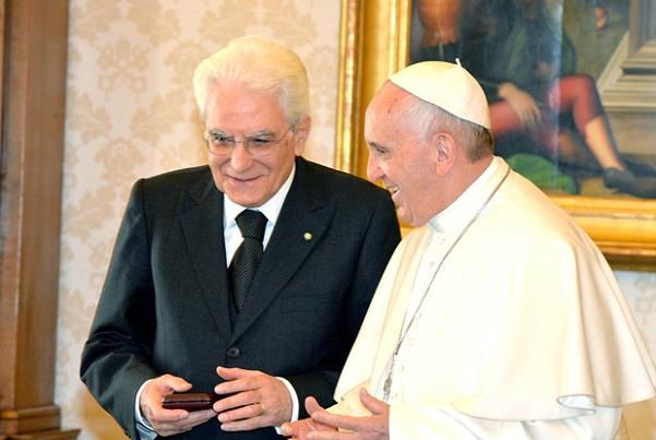 Mattarella da Papa Francesco