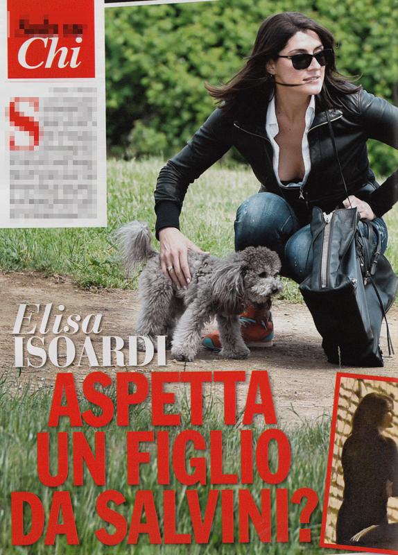 Isoard Salvini, Chi, Isoardi in gravidanza, denuncia per diffamazione, Lilli Gruber