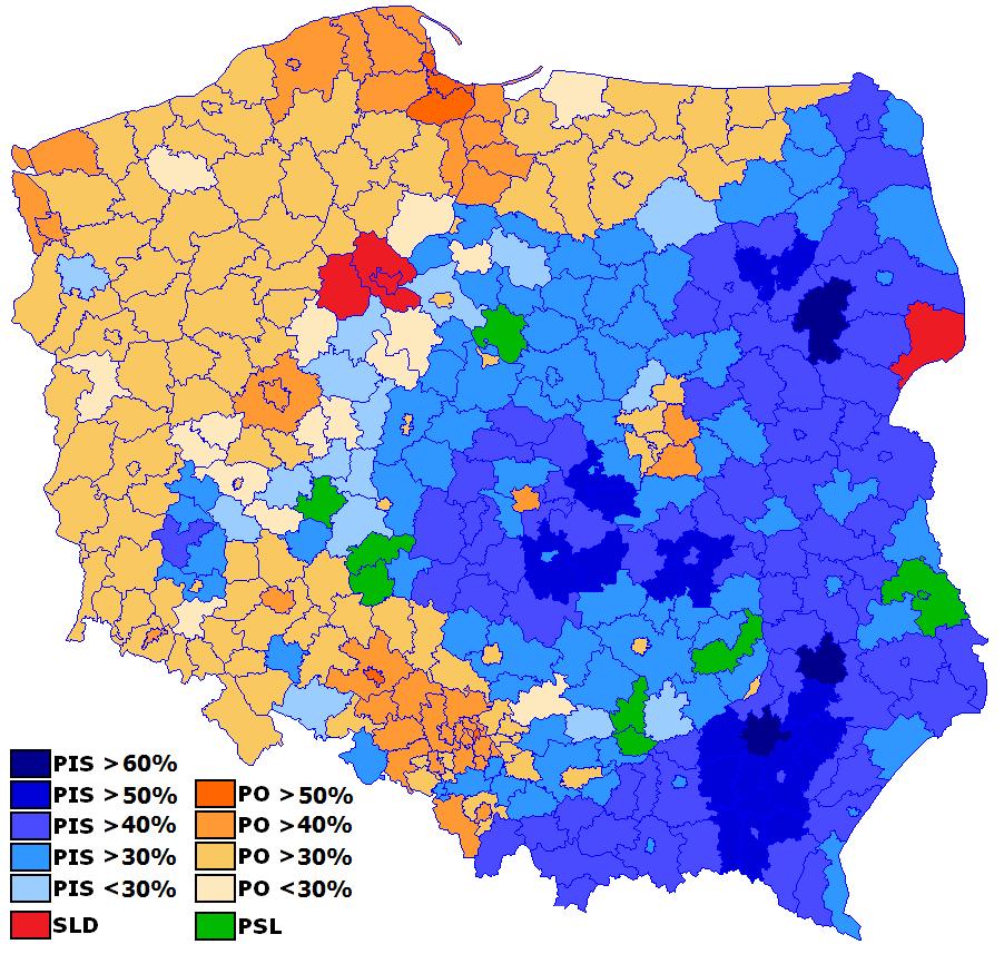 Elezioni Polonia, i partiti di maggioranza relativa nei risultati delle elezioni europee 2014