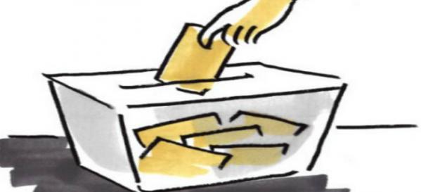 urna elettorale sotto forma di fumetto