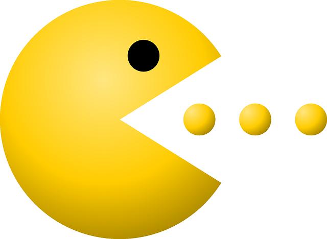 immagine del protagonista di pac-man creatura gialla