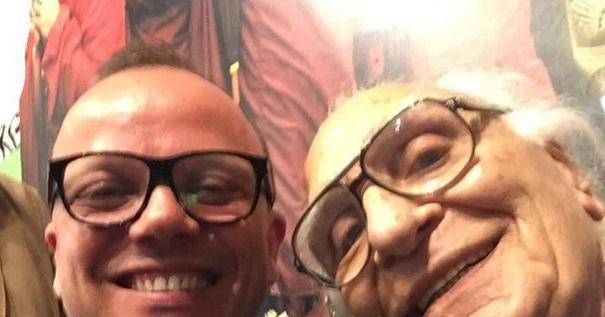 selfie pannella con gigi d'alessio