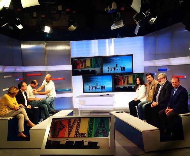 studio tv del tg3 presenti i candidati alla presidenza della regione puglia