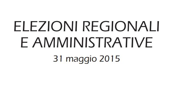 scritta nera su sfondo elezioni regionali amministrative 31 maggio 2015
