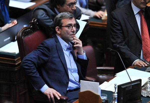 Il deputato del Pd Giachetti nell'Aula della Camera mentre dirige i lavori dell'Aula