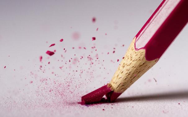 punta di matita spezzata