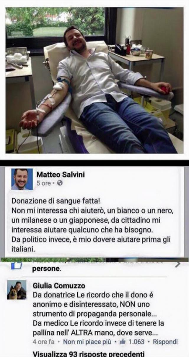 Risposta dottoressa a Salvini