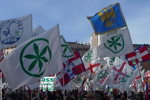 bandiera della lega che sventolano