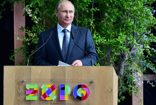 putin in visita all'expo