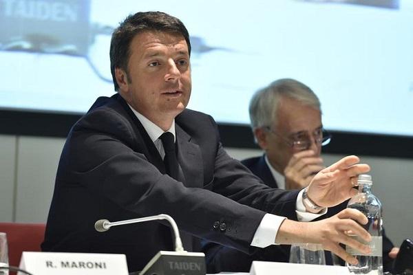 Renzi parla alla conferenza Italia-America Latina, che si è tenuta a Milano, in ambito Expo