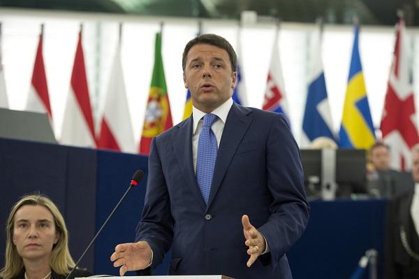 renzi al parlamento europeo, con federica mogherini