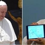 collage di papa francesco a sinistra e salvini a destra