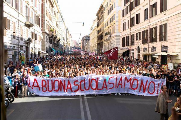 Buona Scuola, proteste in tutta Italia