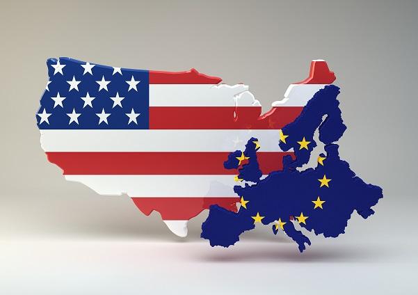rappresentazione continente americano ed europeo