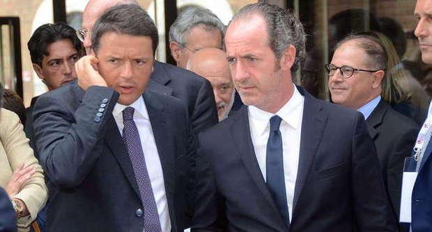 Il governatore del Veneto Luca Zaia attacca il premier Renzi in merito ai tagli della Sanità