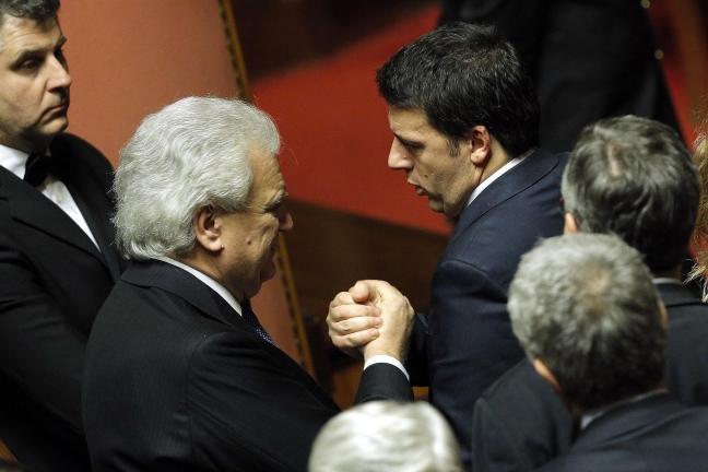 Denis Verdini, fautore del Patto del Nazareno, e Matteo Renzi