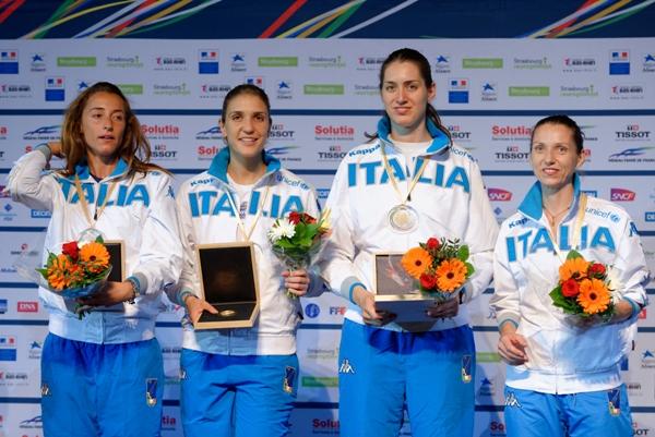 Vezzali e le altre olimpioniche
